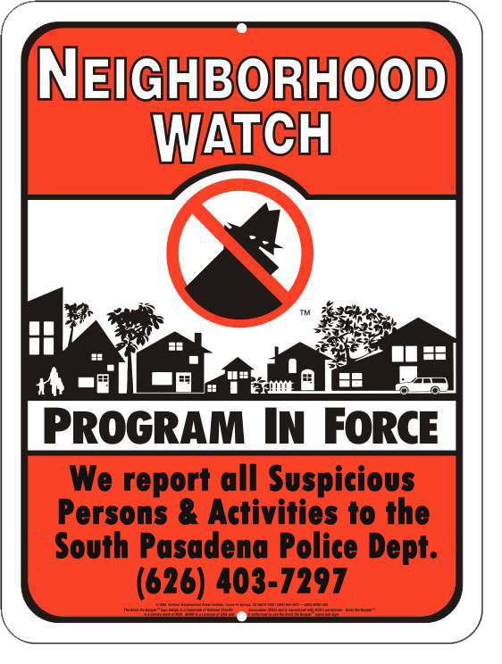 neighborhood watch sign 2015