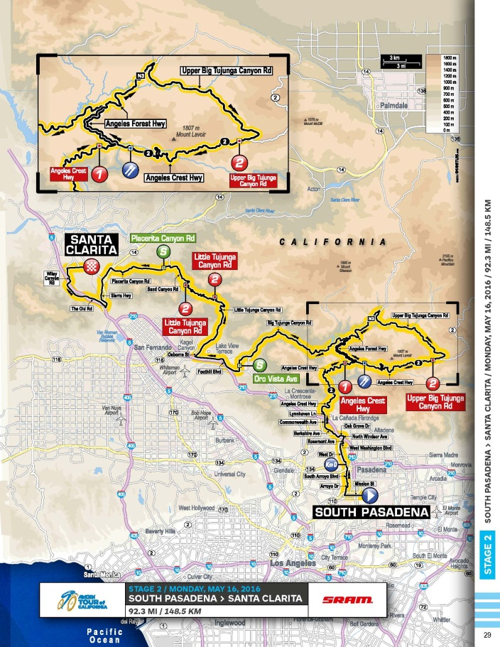 Updated Entire Stage 2 of Amgen Tour of California