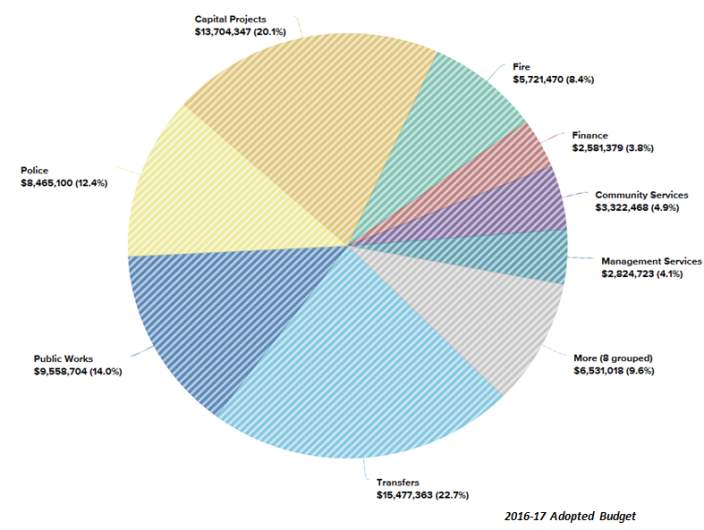 2015-16 Adopted Budget Chart