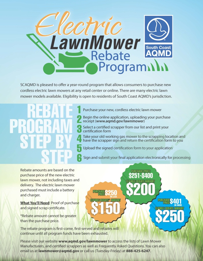 lawn mower rebate