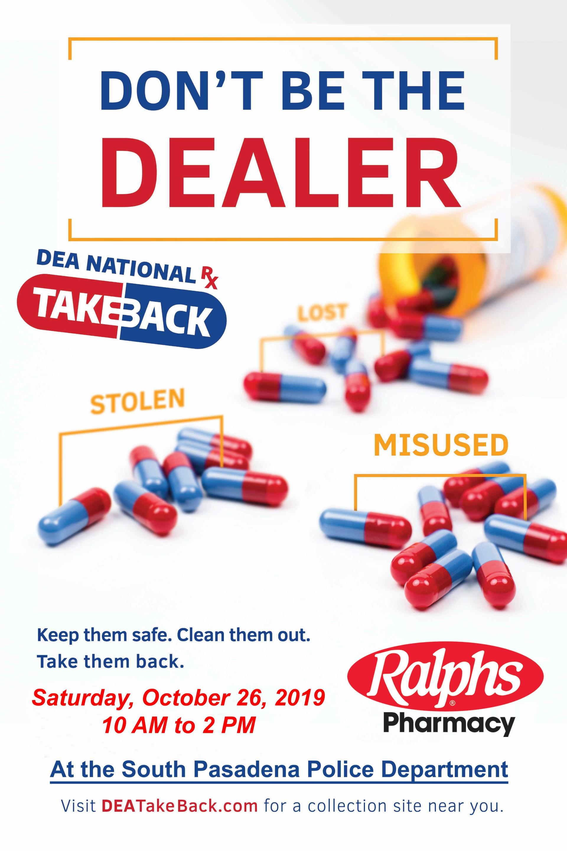 DEA Ralphs drug take back 2019