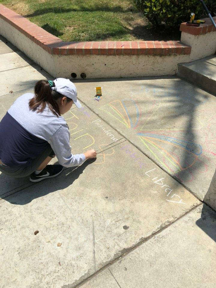 Victoria - Sidewalk Chalk Construction
