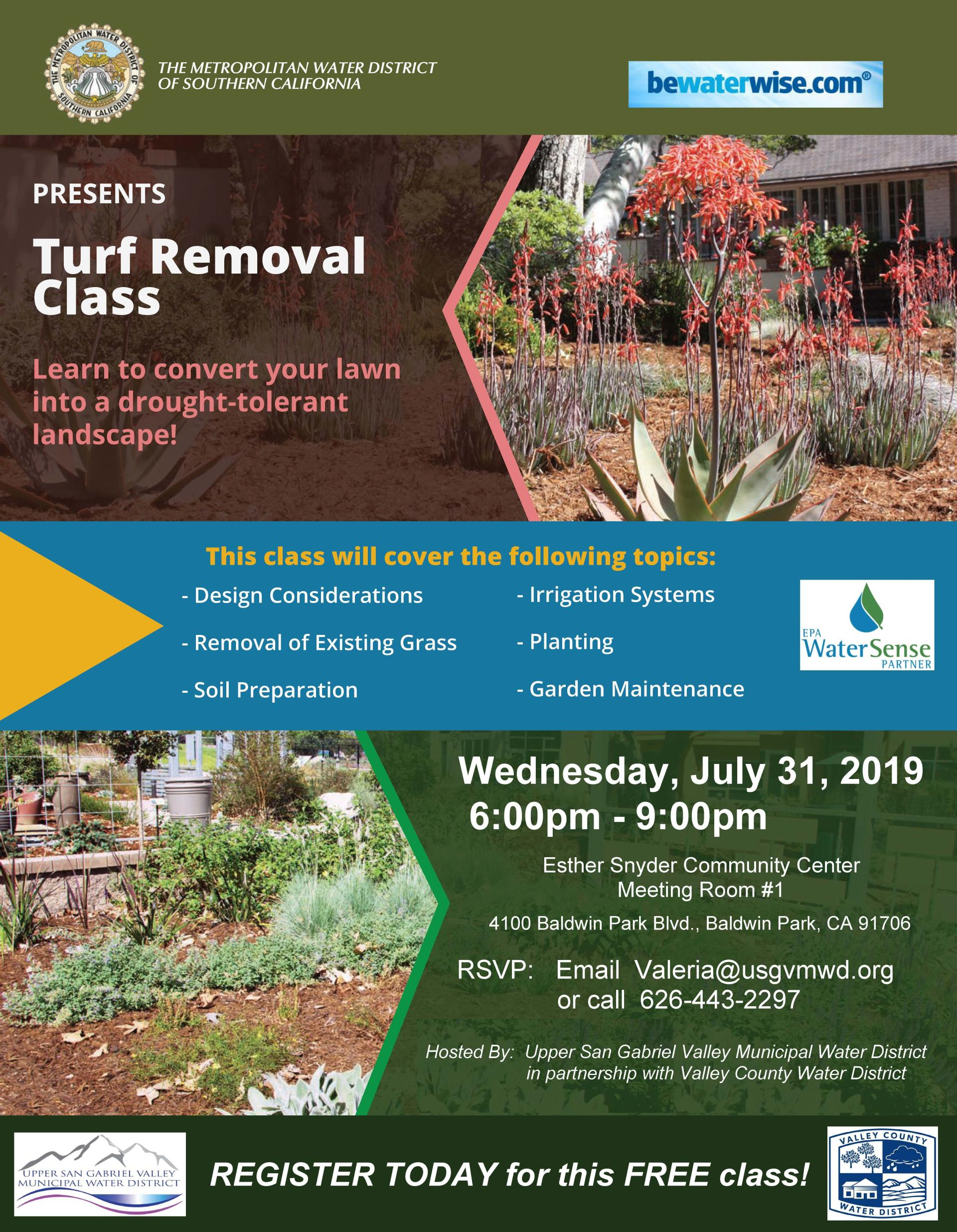 Free Turf Removal Class